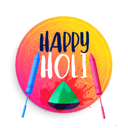 happy holi festival background design