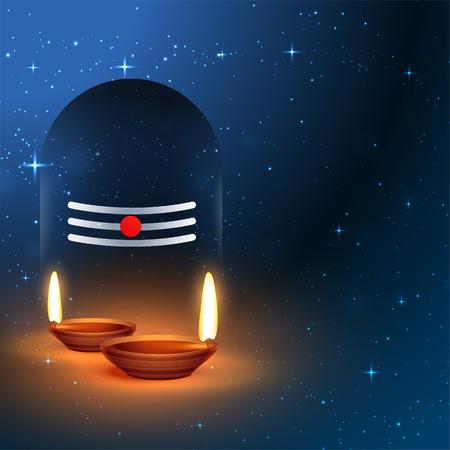 lord shiva shivling idol with worship diya