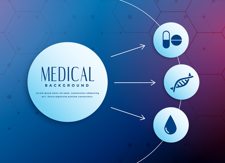medical concept background with icons Иллюстрация