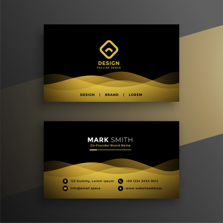 premium dark business card design