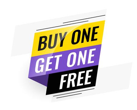 bannière de vente gratuite bogo (achetez-en un, obtenez-en un) Vecteurs