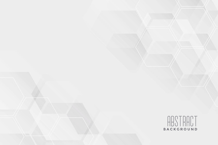 abstract hexagonal white background design