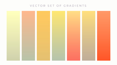 warm colors vibrant gradient set