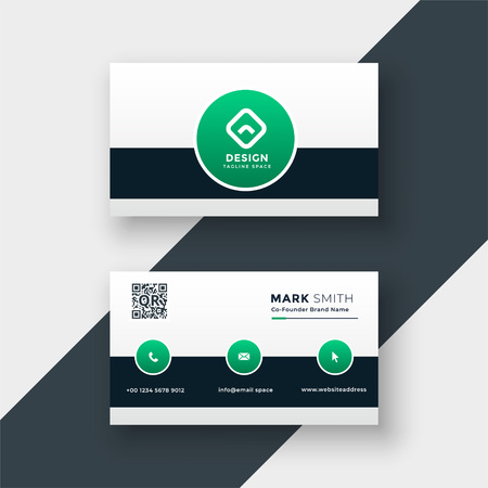 modern stylish company business card template