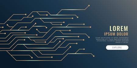 circuit lines diagram technology banner 일러스트