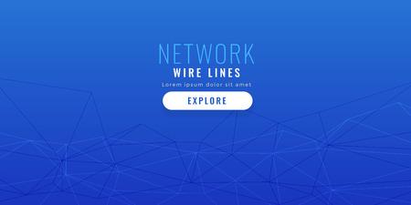 elegant blue low poly network lines background