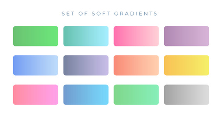 elegant soft color gradient swatches