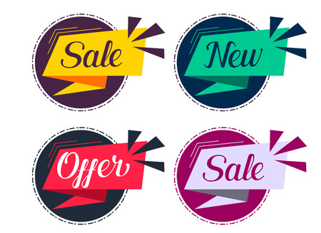 stylish sale and offers labels set