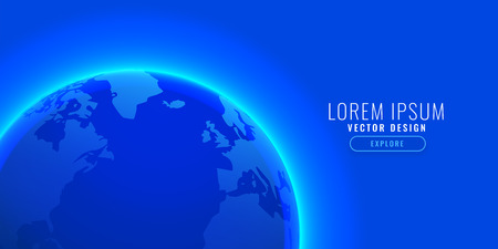 blue earth background with text space