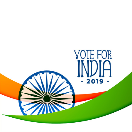 indian 2019 election background design Illustration