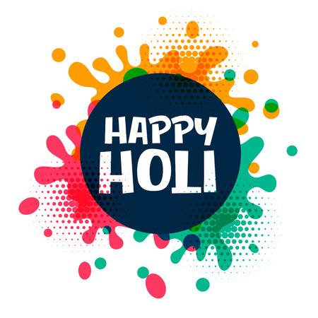 happy holi colors splatter background