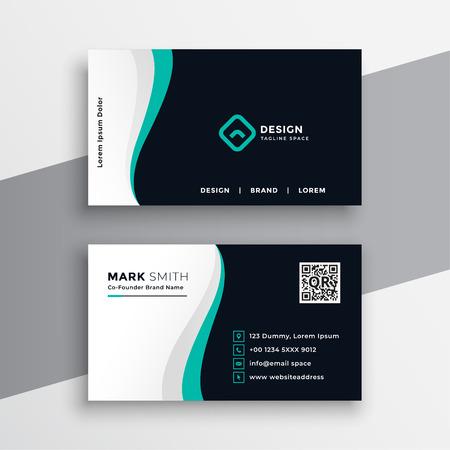 diseño de tarjeta de visita de empresa creativa Ilustración de vector