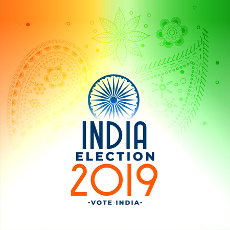 2019 indian general loksabha election concept design