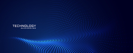 Technologie Partikel Punkte Hintergrunddesign Vektorgrafik