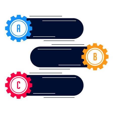 blank gears infograph modern banner Illustration