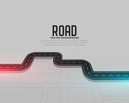 road map journey route concept background Ilustrace