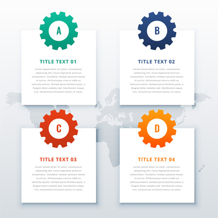 gears infographic background with four steps 版權商用圖片 - 120098231
