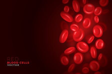 red blood cells flowing background Stock Vector - 124159027