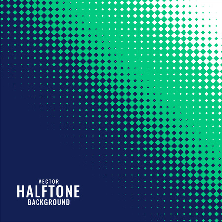 abstract blue green and white halftone pattern Illustration