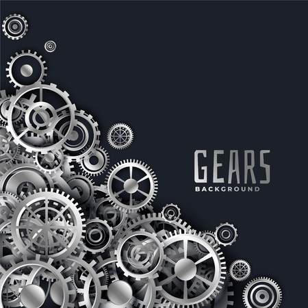 realistic 3d metallic gears background Ilustrace