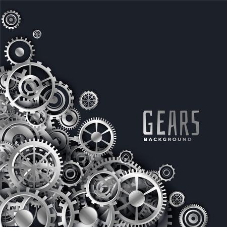 realistic 3d metallic gears background Illustration