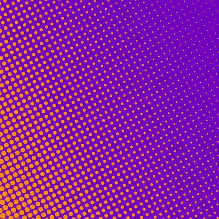 purple background with orange halftone pattern Illustration