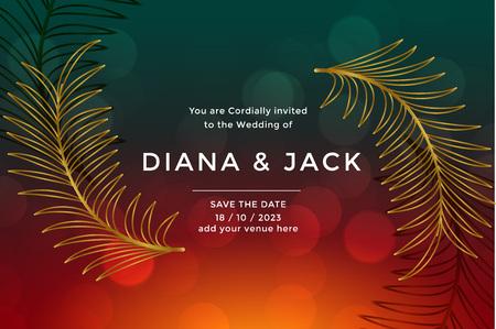 premium luxury wedding card design template