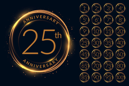 anniversary logotype design big set