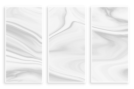 abstract liquid marble effect empty white banners