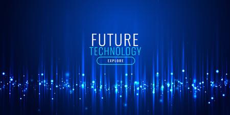 conception de bannière de particules de technologie futuriste