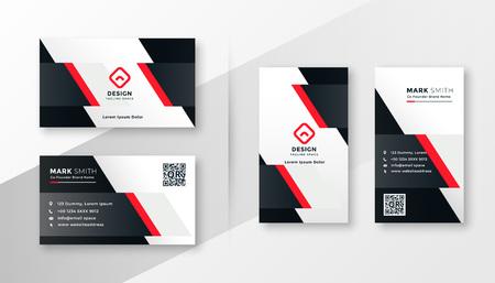conception de carte de visite entreprise rouge