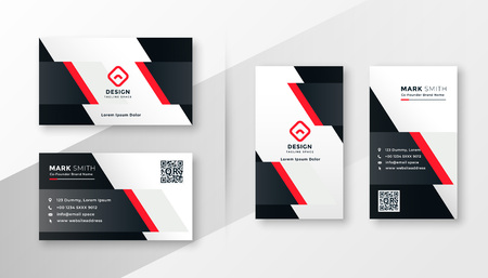 red company business card design