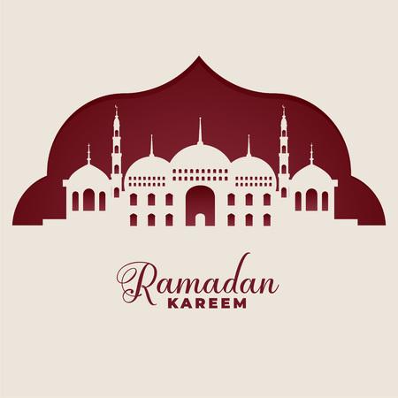 mosque silhouettes ramadan kareem islamic background