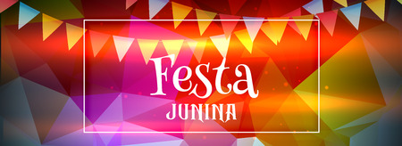 abstract colorful festa junina banner 向量圖像