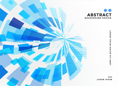 abstract blue mosaic background design Illustration
