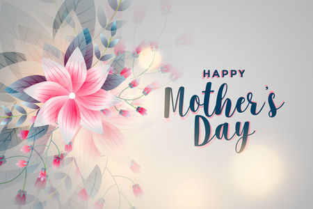 happy mothers day flower greeting background