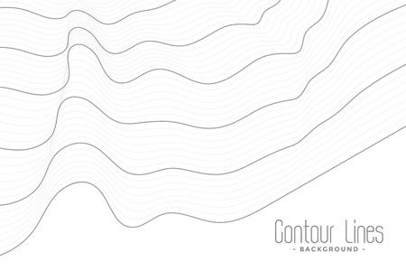 minimal contour lines wave background