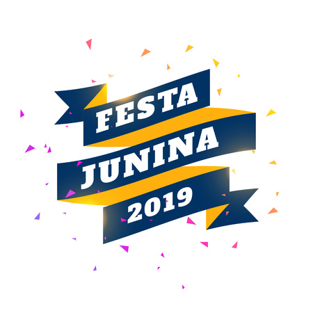 festa junina 2019 celebration banner Illustration