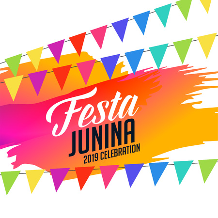 colorful festa junina celebration background Illustration