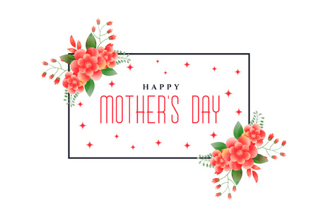 happy mothers day foliage greeting design
