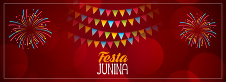festa junina red celebration banner design 矢量图像