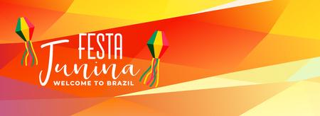 latin americal festa junina brazil festival banner