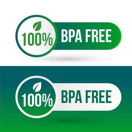 etiquetas de icono de insignia de logotipo libre de bpa Logos