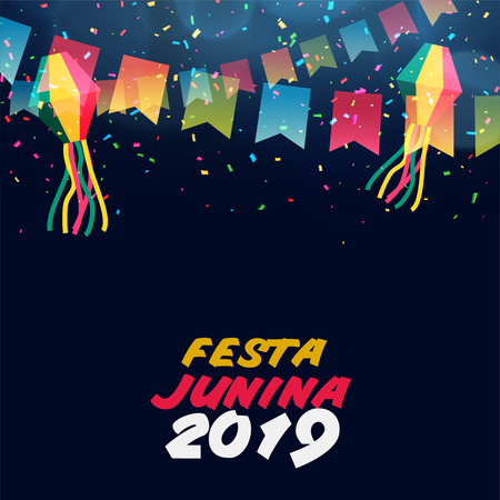 latin american festa junina celebration banner Ilustração