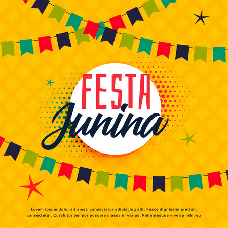 festa junina brazilian greeting background