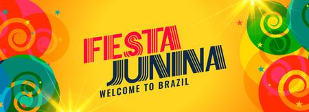 festa junina brazil holiday banner design Ilustração