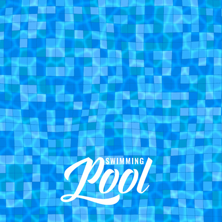 blue swimming pool background with caustics