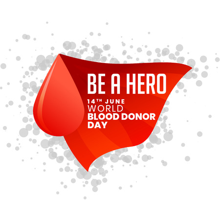 be a hero world blood donor day background Çizim