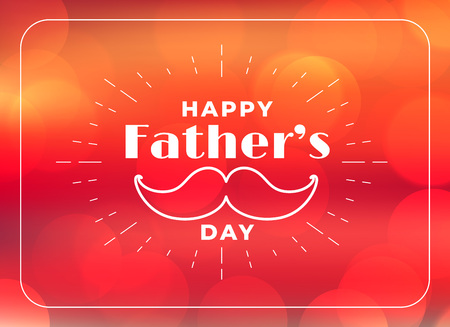 happy fathers day greeting background Vector Illustration