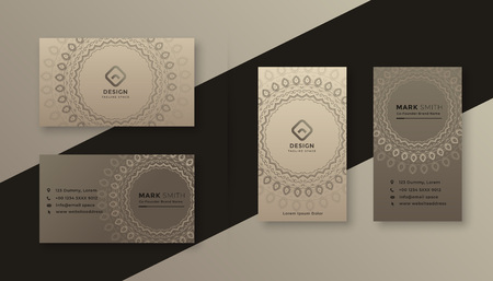 decorative business card design in vintage style